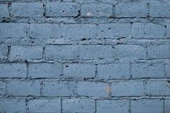 Parede de tijolo gasto azul para o projeto da decoração Teste padrão bonito com a parede de tijolo gasto azul para o projeto do p imagens de stock royalty free