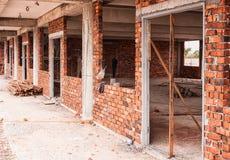Parede de tijolo incompleta Imagem de Stock