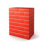 Parede de tijolo isolada Fotografia de Stock