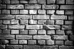 Parede de tijolo no estilo retro fotografia de stock royalty free