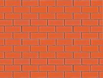 Parede de tijolo nova e limpa alaranjada vermelha sem emenda Foto de Stock Royalty Free