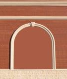 Parede de tijolo ornamentado com espaço da cópia. Foto de Stock