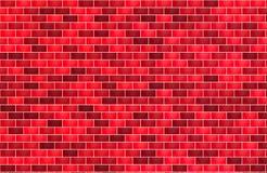 Parede de tijolo para a cor vermelha do fundo horizontal ilustração stock