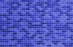 Parede de tijolo para a obscuridade do fundo - azul da textura horizontal ilustração do vetor