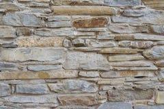 Parede de tijolo de pedra magro velha do fundo detalhado alto Fotos de Stock Royalty Free