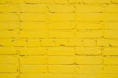 Parede de tijolo pintada Imagens de Stock