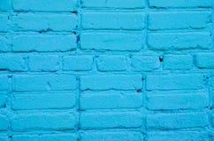 Parede de tijolo pintada Fotografia de Stock
