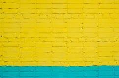 Parede de tijolo pintada Foto de Stock