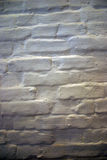 Parede de tijolo pintada branca fotografia de stock