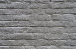 Parede de tijolo pintada branca foto de stock