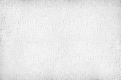 Parede de tijolo pintada branco Textured imagens de stock