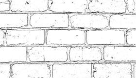 Parede de tijolo pintada com um lápis fotos de stock
