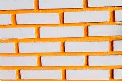 Parede de tijolo pintada, fundo da parede de tijolo Fotos de Stock