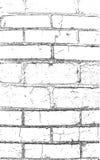 Parede de tijolo pintada no preto imagens de stock