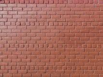 Parede de tijolo pintada vermelha imagem de stock