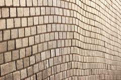 Parede de tijolo quadrada à perspectiva foto de stock royalty free