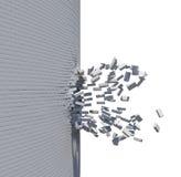 Parede de tijolo quebrada Imagem de Stock