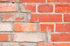 Parede de tijolo reparada Imagens de Stock Royalty Free