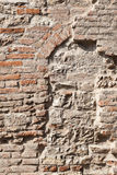 Parede de tijolo reparada Imagens de Stock