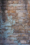 Parede de tijolo resistida Imagem de Stock Royalty Free