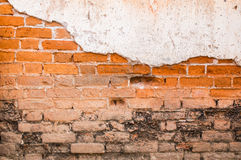 Parede de tijolo resistida velha Fotografia de Stock