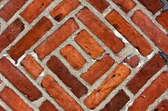 Parede de tijolo riscada fotografia de stock