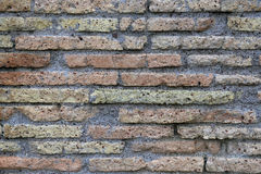 Parede de tijolo romana antiga Fotos de Stock Royalty Free