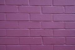 Parede de tijolo roxa Fotos de Stock Royalty Free