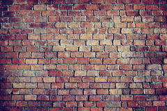 Parede de tijolo Textured bonita clássica Fotos de Stock Royalty Free