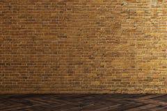 Parede de tijolo vazia ilustração do vetor