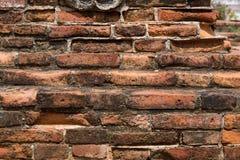 A parede de tijolo velha fotografia de stock