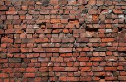 Parede de tijolo velha. imagens de stock
