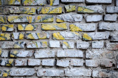 Parede de tijolo velha branca para o fundo Imagens de Stock Royalty Free