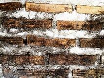 Parede de tijolo velha com cimento Trace Texture Background Imagens de Stock