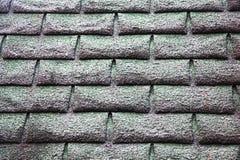 Parede de tijolo velha com texturas no cinza imagem de stock royalty free