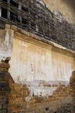 Parede de tijolo velha da casa Foto de Stock