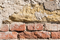 Parede de tijolo velha da cor imagem de stock royalty free