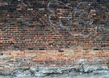 Parede de tijolo velha do grunge imagens de stock royalty free