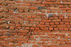 Parede de tijolo velha do tijolo vermelho Fotografia de Stock