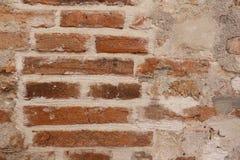 Parede de tijolo velha do vermelho do tijolo para o projeto ao estilo moderno imagens de stock royalty free