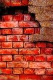 Parede de tijolo velha e danificada Fotografia de Stock Royalty Free