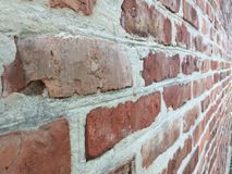 Parede de tijolo velha em uma imagem de fundo Imagens de Stock Royalty Free