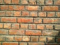 Parede de tijolo velha para a textura ou o fundo fotografia de stock