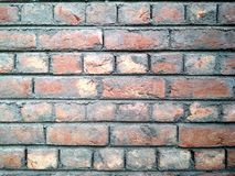 Parede de tijolo velha para a textura ou o fundo imagens de stock royalty free