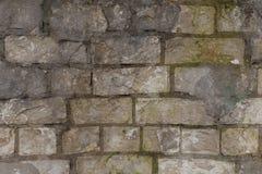 Parede de tijolo velha que data séculos para trás Fotos de Stock
