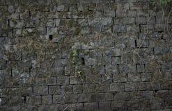 Parede de tijolo velha: Textura da alvenaria do vintage - tijolo de pedra foto de stock royalty free