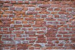 Parede de tijolo velha vermelha Textura Foto de Stock Royalty Free