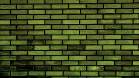 Parede de tijolo verde Fotografia de Stock Royalty Free