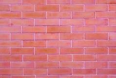 Parede de tijolo vermelha do vintage no fundo Foto de Stock Royalty Free