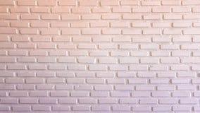 Parede de tijolo vermelha e branca morna para a textura ou o fundo Fotografia de Stock